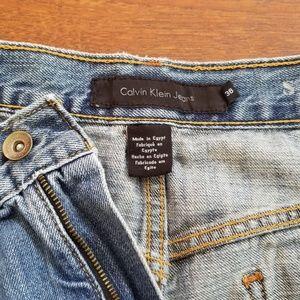 Calvin Klein Men's Designer Jeans 38x33 Broken In
